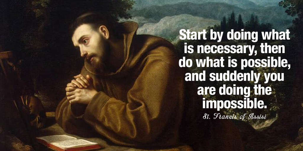 Start by doing what is necessary, then do what is possible, and suddenly you are....- St. Francis of Assisi  #InspireThemRetweetTuesday #TuesdayThoughts<br>http://pic.twitter.com/JRPaslq6fZ