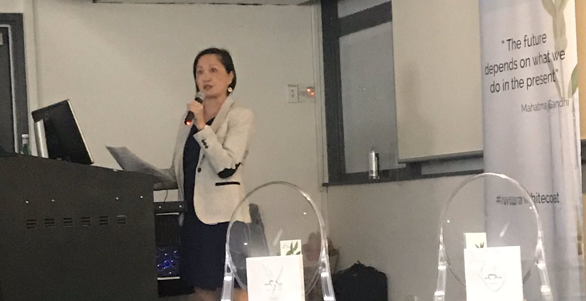 "Thank-you Vanessa Yenson for sharing your personal story at the @whitecoatsfound ""Thank-you Session"". From patient to researcher helping with protocol design and converting new study ideas into #clinicaltrials.   #patients #livedexperience #addingvalue"