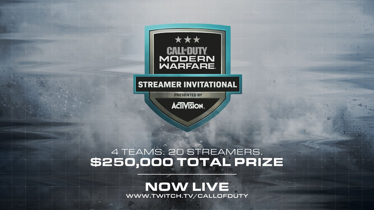 $250,000 is on the line. Who will raise their game to the next level and take home the prize? #ModernWarfare Watch Now: twitch.tv/callofduty