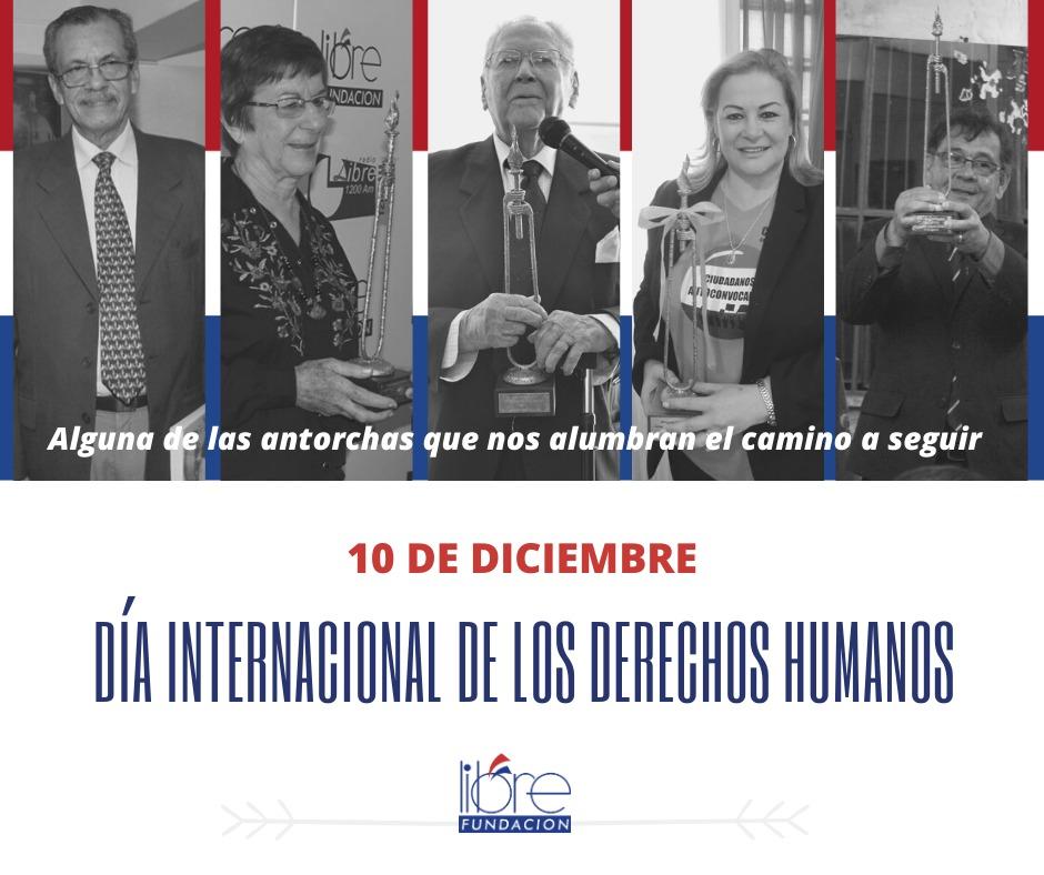 [HOY] 10.12.2019 recordarnos que todos los seres humanos nacen libres e iguales en dignidad y derechos. En Paraguay, debemos identificar a los referentes y acompañarlos en sus luchas por los #DDHH como estas antorchas #DíaDeLosDerechosHumanos #HumanRightsDay2019 #HumanRights