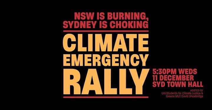 RT @ellybaxterpr: Tonight we rally 5.30pm Sydney Town Hall #ClimateEmergency #ExtinctionRebellion https://t.co/cBqMMaGkK0