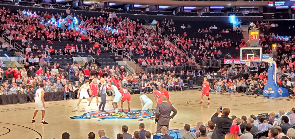 Jimmy V Classic just tipped at Madison Square Garden (ESPN) with Louisville taking on Texas Tech followed by Indiana-UConn