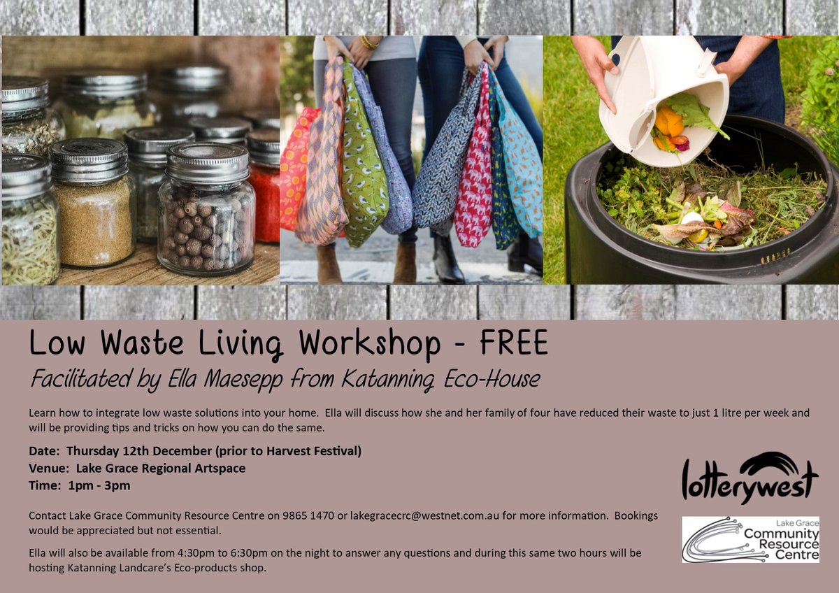 Tomorrow! In #LakeGrace to talk #LowWaste Living, and help people live more #sustainably! See you there! https://t.co/qL4ZF246eI