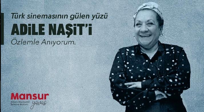 Türk sinemasının gülen yüzü, kuzucuklarının Adile annesi, çok sevgili Adile Naşit'i aramızdan ayrılışının 32. yılında özlemle anıyorum.
