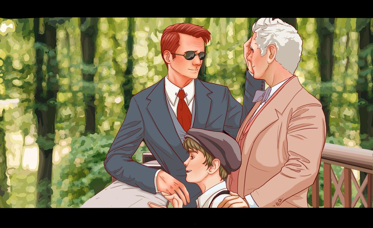 """Another couple of drawings inspired by @beckers522's beautiful fic """"The Stars Walk Backward"""" #GoodOmensFanArt #GoodOmens #thestarswalkbackwardsfic<br>http://pic.twitter.com/P2vz2iMLqF"""