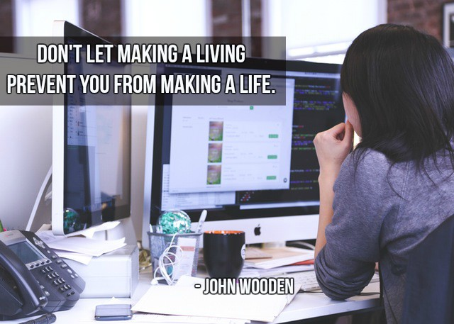 Don't let making a living prevent you from making a life. - John Wooden   #InspireThemRetweetTuesday #TuesdayThoughts<br>http://pic.twitter.com/Bw8kyJxNvi