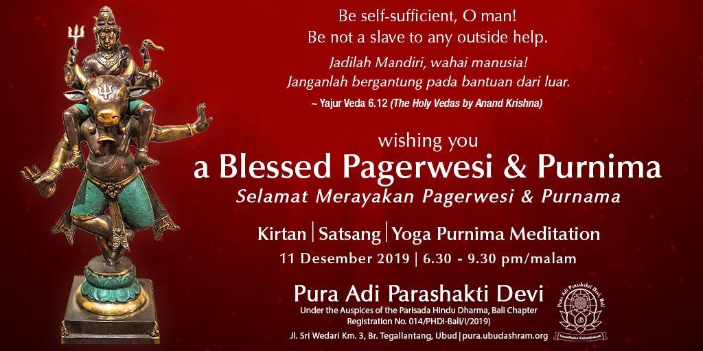 RT @nugrahaIB: Selamat #pagerwesi dan #purnama #phdi #kmhdi #anandkrishna https://t.co/gcKH7aX6MP
