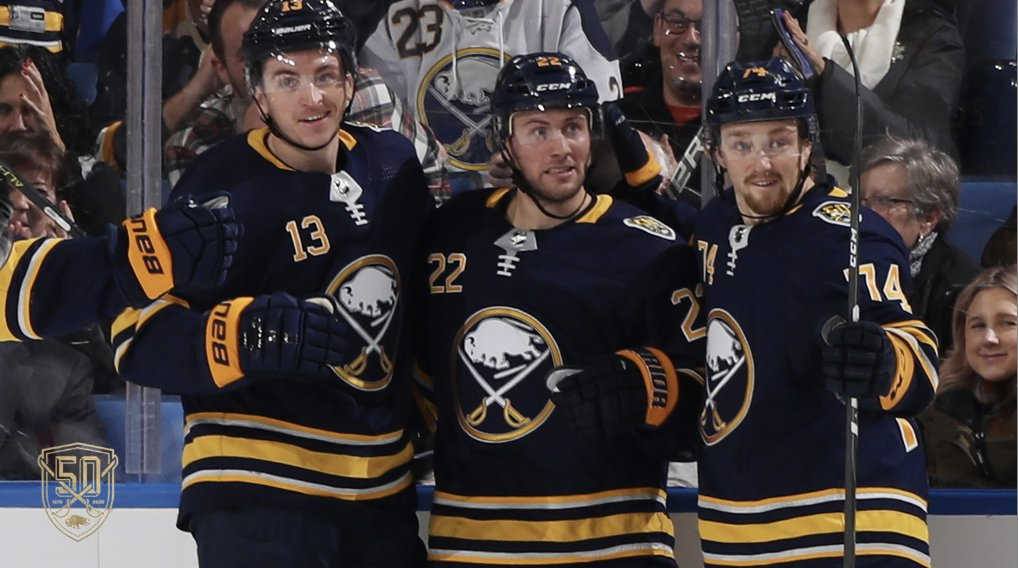 Jack Eichel extends point streak to 14 games, Sabres take down Blues, 5-2
