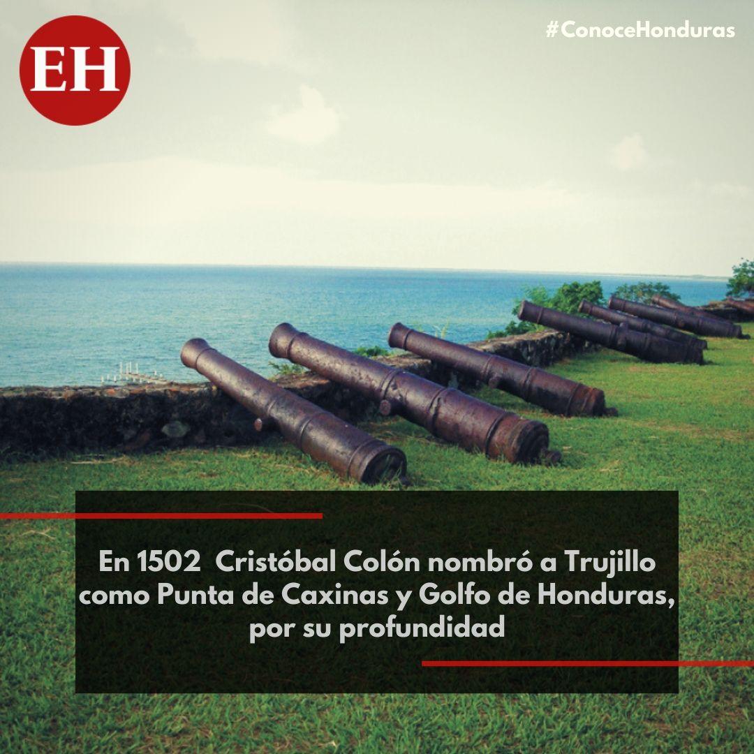 #ConoceHonduras Trujillo fue de las primeras ciudades que formaron parte de la historia del país, debido a que fue el suelo que tocó Cristóbal Colón el 14 de agosto de 1502