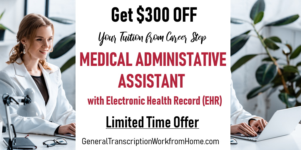 $300 off When Enrolling for Career Step Training as a Medical Administrative Assistant with Electronic Health Record (EHR) Ends on 12/10  #af #careers https://bit.ly/2tpaWfO