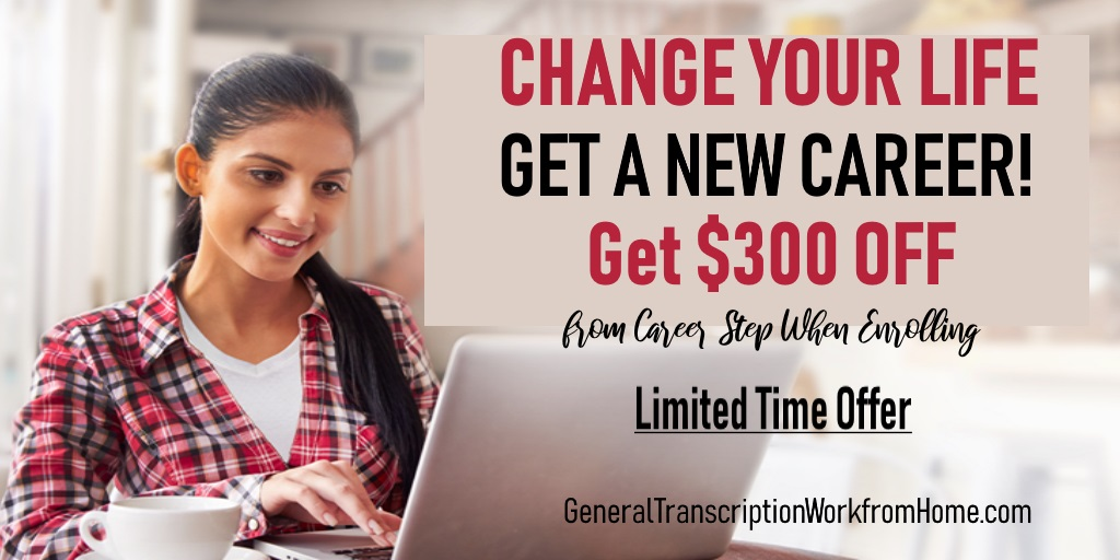 Change your Life with Career Training $300 off from Career Step. Enroll by 12/10 #MedicalTranscription #medicalbilling #medicalcoding #MT   #af http://bit.ly/1SNNr8t