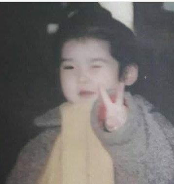 Good morning from this cutie 💜 Our lil bubs winning on her ™️ wink, tounge-out pose and ahjumma fashion since she was a baby 😉