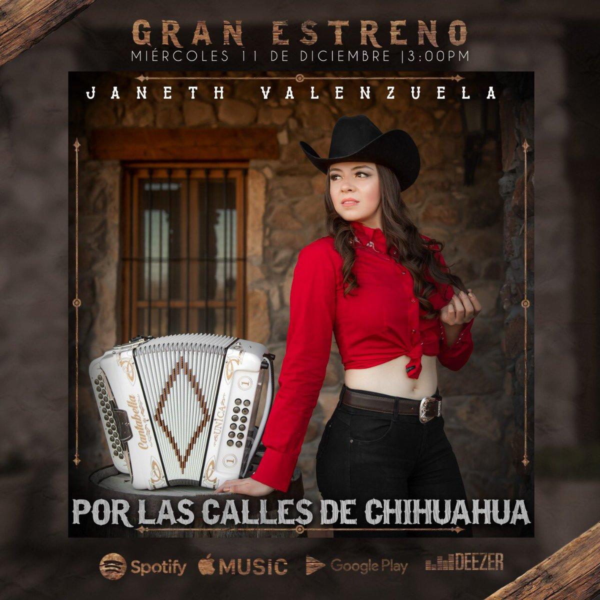 Mañana gran estreno, no se lo pierdan por todas las plataformas digitales a la 3:00pm 🤩😍🎶   Pre ordena aquí:   @spotifymx @itunes @pandora #dezzer  #chihuahua #sierreño #rancho #vaquerita #mexicana