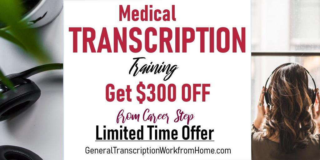 Get $300 off From Career Step When Enrolling in Medical Transcription. Expires by 12/10  #MT #MedicalTranscription  #af https://bit.ly/2Z1dped
