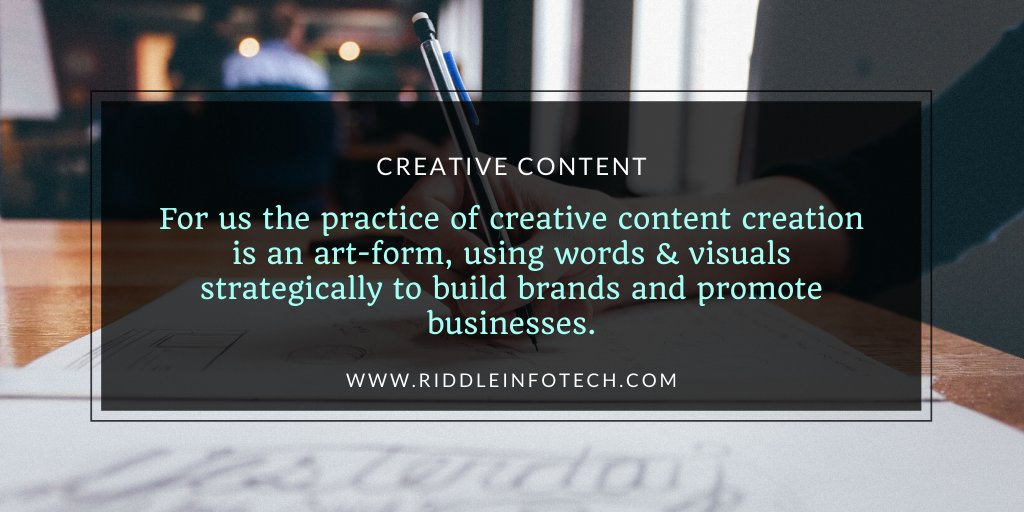 Engaging Content To Inform, Entertain And Attract Visitors!#riddleinfotech #digitalmarketing #ITSolutions #business #webdevelopment #webdesigning #ecommerce #mobileapps #webagency #chandigarh #websolutions #seo #smo #branding #marketing #startups #website #growth #content #orm