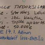 Image for the Tweet beginning: Henkilökunta on listannut mulle joululahjatoiveita,