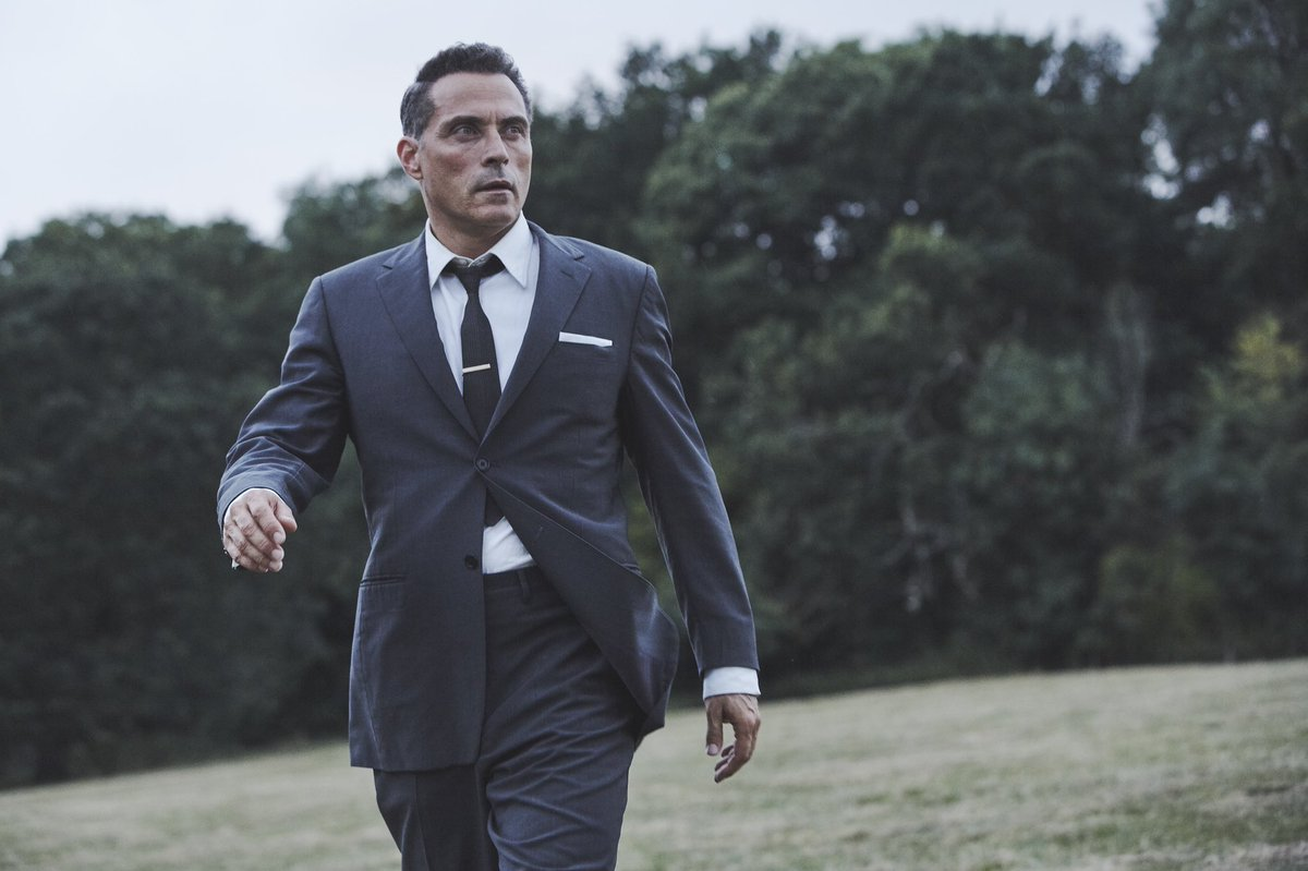 Introducing Mark Easterbrook! The Emmy and BAFTA-nominated Rufus Sewell (The Man In the High Castle, The Marvellous Mrs. Maisel) takes on the lead role of Mark Easterbrook in Christie's The Pale Horse, coming to screens in 2020 bit.ly/PaleHorseCast #ThePaleHorse