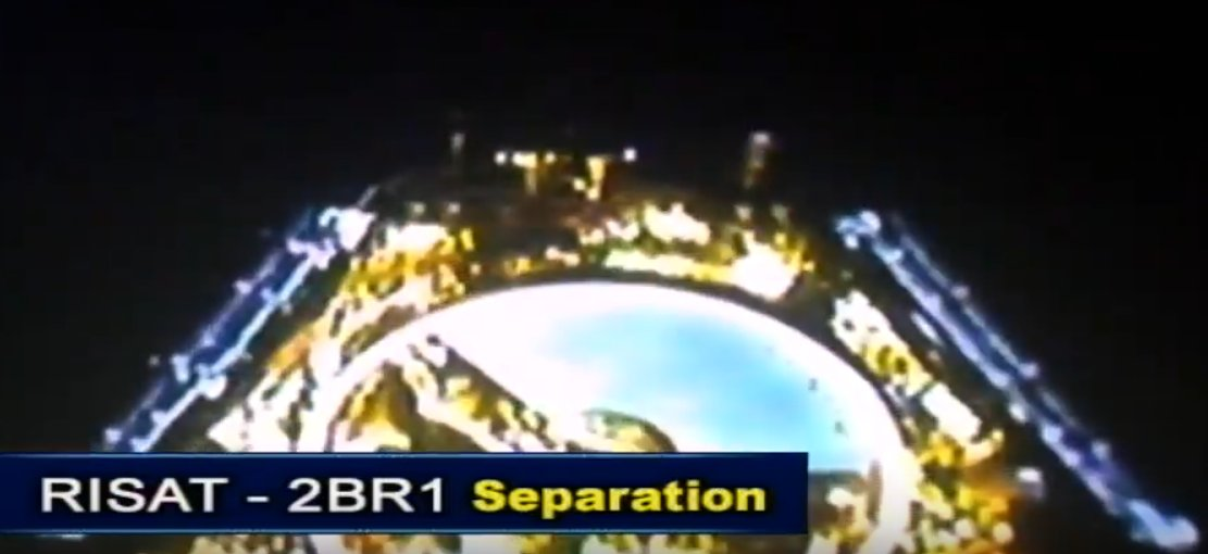 #RISAT2BR1 satellite successfully placed in orbit by #PSLVC48Here's a picture of satellite separation captured by onboard camera