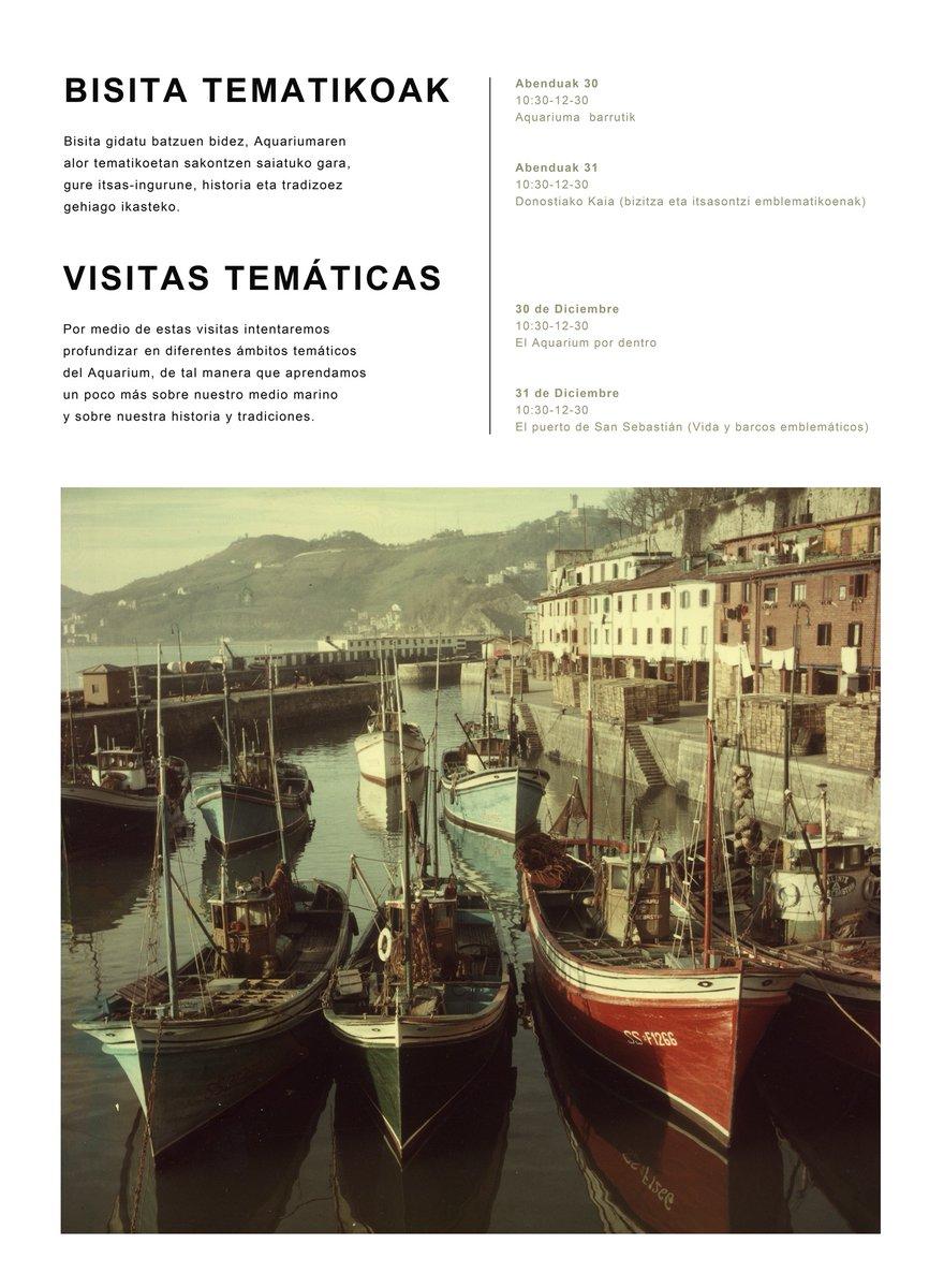 Te proponemos un plan bonito para estas #Navidades. Si quieres aprender un poco más sobre el medio marino, nuestra historia y tradición ¡ Acercate a #Donostia #San Sebastián!