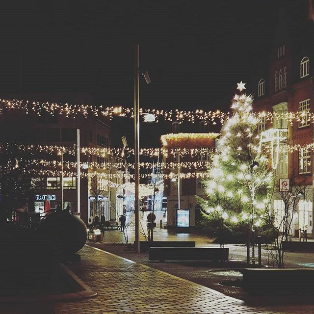 #Viborg  at 6.30 in the #morning  I really love #christmas  #christmaslighting  and viborg so its a pretty good combo for me 😫