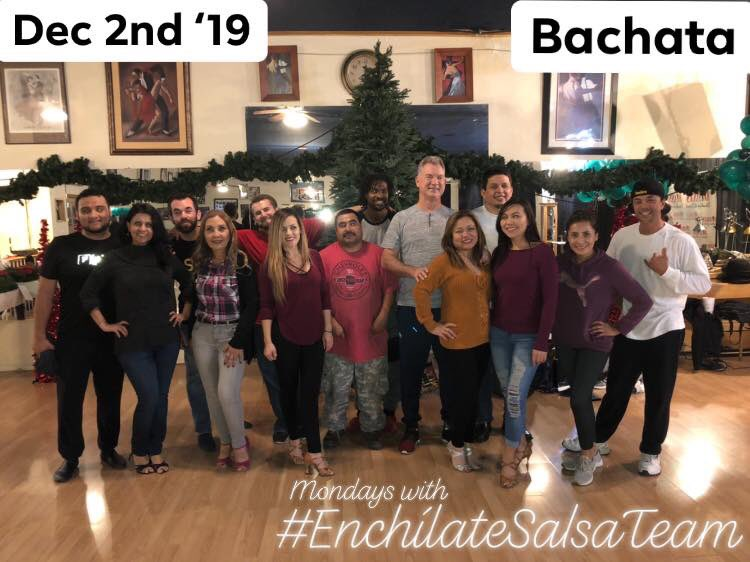 For the love of #Dance  - teaching session number TWO HUNDRED EIGHTY-TWO this year! Enchílates int/adv group class. We have started a new #Bachata  combination! Diannas Studio of Dance. Fresno, CA. 02-December-2019 #EnchílateSalsaTeam