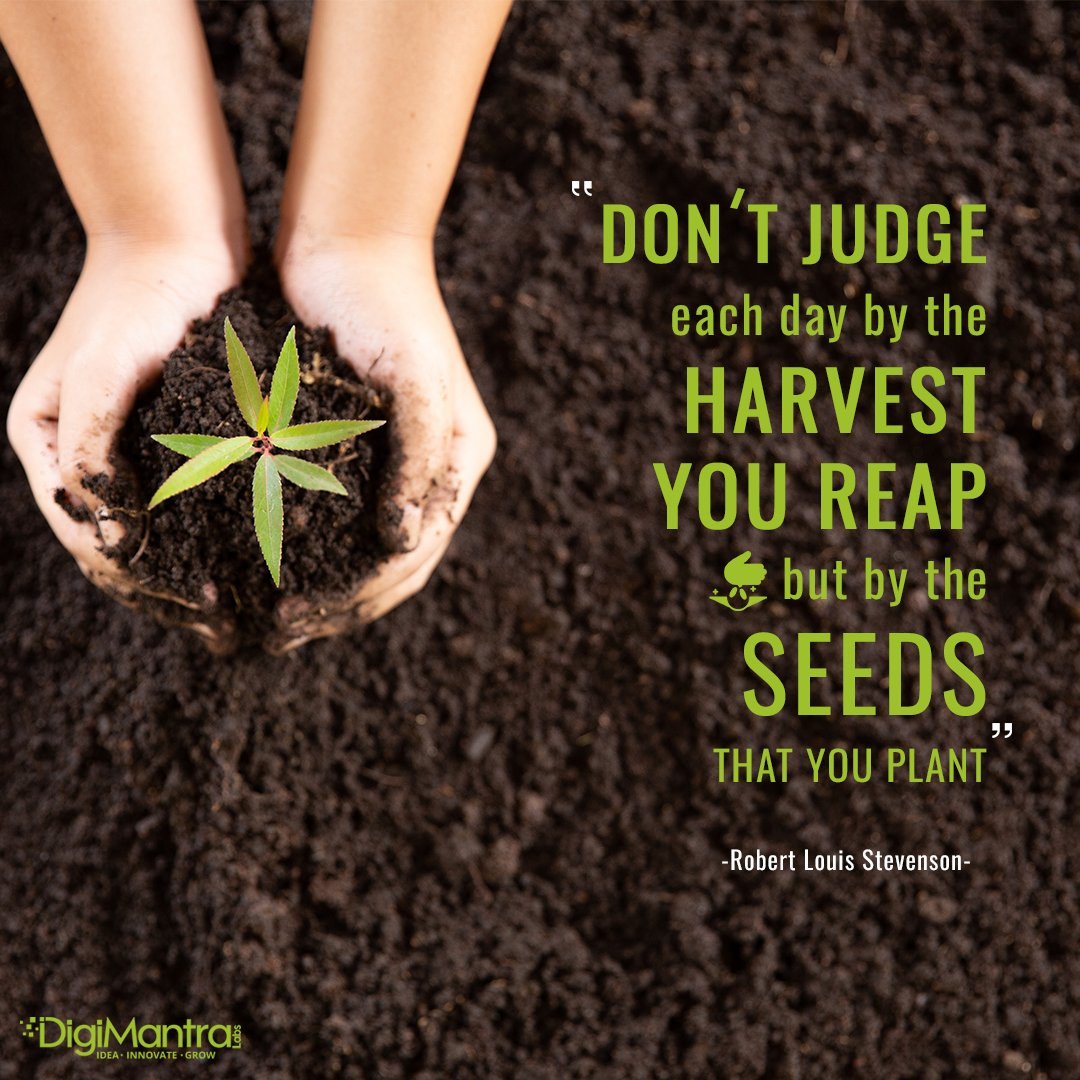 Every planted seed will turn into a big tree, if watered and cared for properly.  #morningmotivation  #morning  #opportunity  #inspiration  #quotes  #inspirationalquotes  #business  #growth  #digimantralabs  #digitian