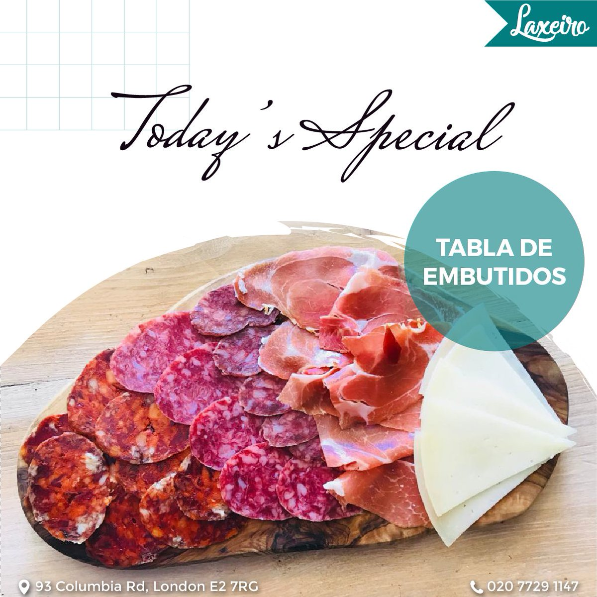 No better way to start your week with our delicacies from Spanish, Try our TABLE DE EMBUTIDOS. . Follow @laxeiro_restaurant  for more pictures . . #table  #de  #embutidos  #yummy  #adore  #morning  #goodvibes  #week  #start  #laxeirolondon  #familyphotography  #columbiaroadflowermarket