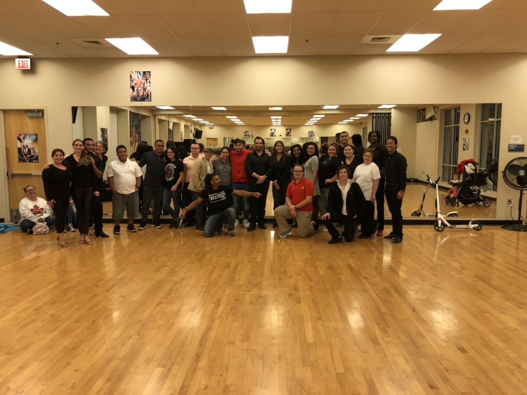 For the love of #Dance ! Teaching session number TWO HUNDRED EIGHTY-FIVE this year! The final meeting for my evening KAC 13 class with a guest appearance by #EnchílateSalsaTeam ! #FresnoState . Fresno, CA. #GoDOGS ! 05-December-2019