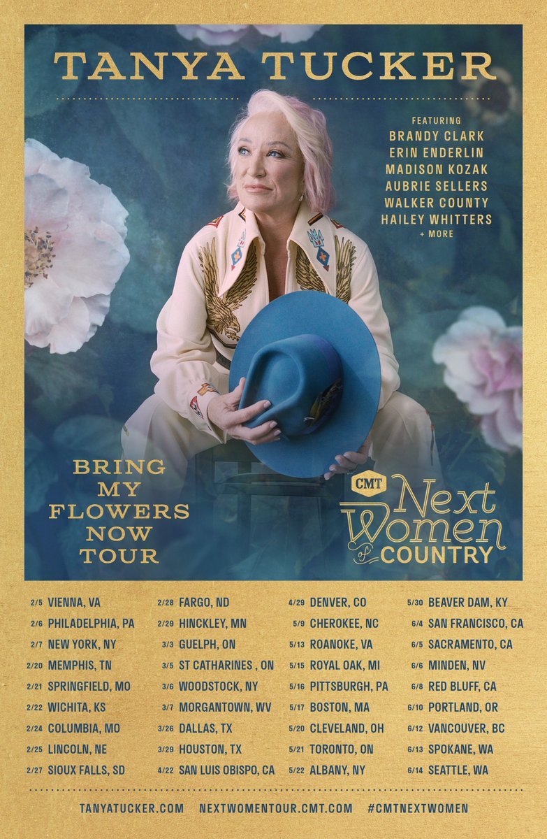 #TanyaTucker  Announces Headlining Stops for 2020 #CMT  #Next  #Women  of Country: #Bring  #My  #Flowers  #Now  #Tour  … https://countrymusicnewsinternational.blogspot.com/2019/12/country-music-icon-tanya-tucker.html  … #Promote  your Music, #Artists , #Events , #Video ,  #Concerts , #Company  at #Country  #Music  #News  #International   … https://countrymusicnewsinternational.blogspot.com/2019/12/country-music-icon-tanya-tucker.html  …