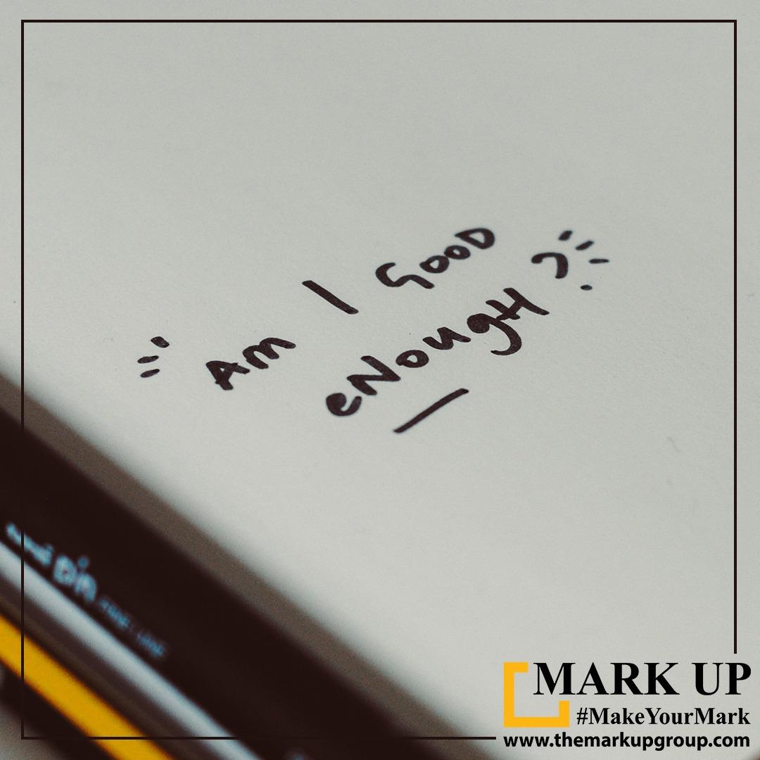 Am I Good enough ? #advertising #branding #websolutions #datasolutions #SMM #facebookmarketing #SEO #digitalmarketing #website #whatsappmarketing #socialmediamarketing #design #marketingagencyahmedabad #print #markup #marketing #markupmarketing #ahmedabad