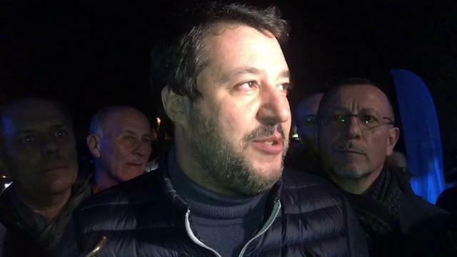 Salvini a Maerne al raduno del sindacato di polizi...