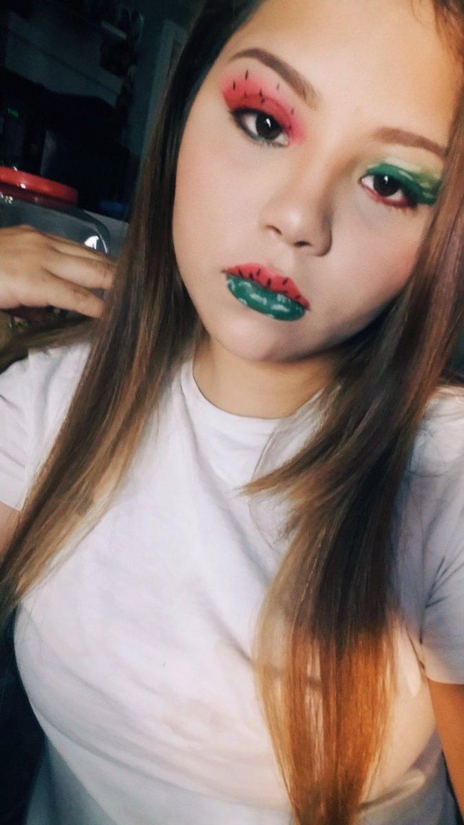 One In a Melon  #simplelife #makeuplover #makeuplook #makeupbyme  #Jamescharlespalette #morphe #fruitmakeup<br>http://pic.twitter.com/QWDBmJQZC1