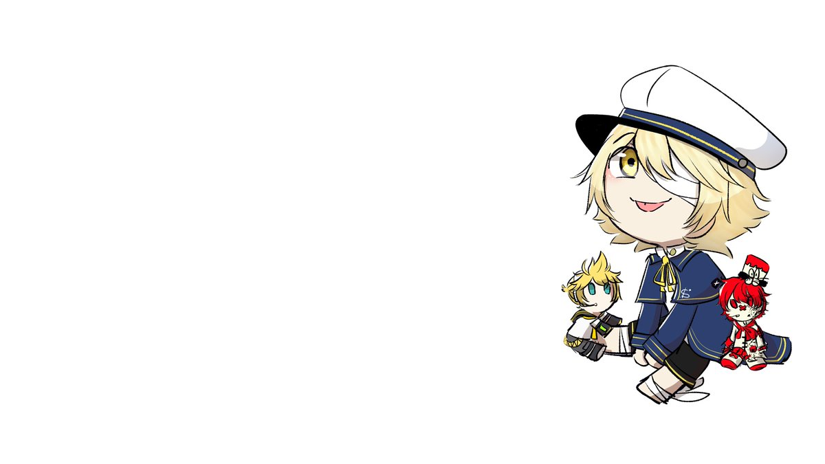 No reason for the literal void, it's too late to crop it now  Just imagine him just, there. Ok  I added Len and Fukase plushes around Oliver, thought it looked cute : D  #vocaloid<br>http://pic.twitter.com/gzb8CPf0rM