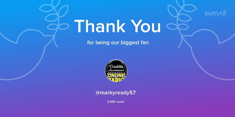 Our biggest fans this week: markyready57. Thank you! via sumall.com/thankyou?utm_s…