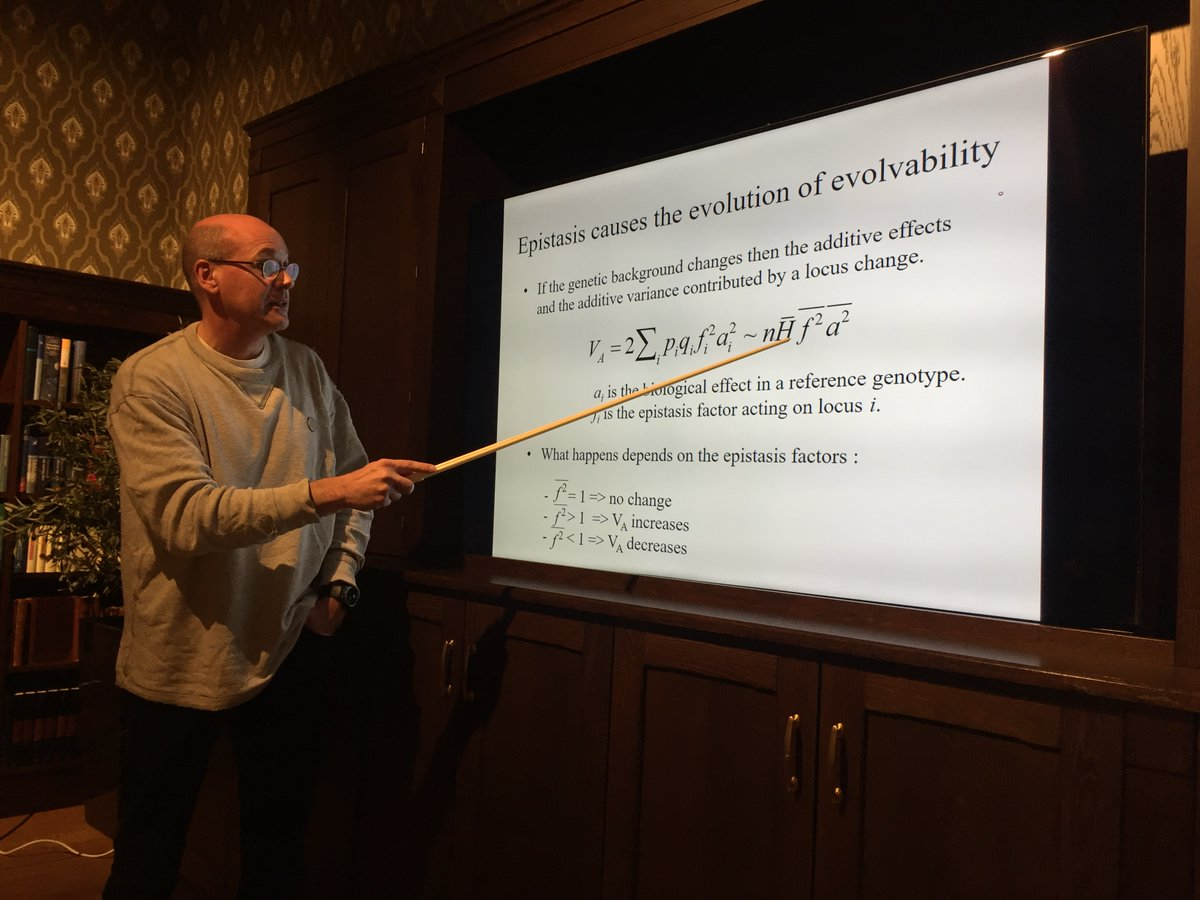"""Yesterday we had the pleasure of attending a talk by one of our group leaders Thomas F. Hansen about """"Quantitative genetics, epistasis and #evolvability"""" at @CASOslo."""