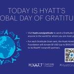 Imagen para el comienzo del Tweet: Hoy es el @Hyatt |