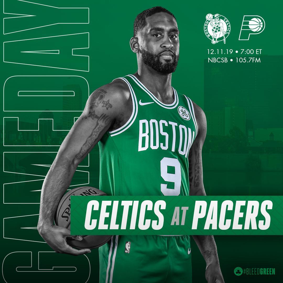TONIGHT ☘ Celtics at @Pacers 📍 @TheFieldhouse  🕢 7:00PM ET 📺 @NBCSBoston 📻 @1057WROR  #BleedGreen