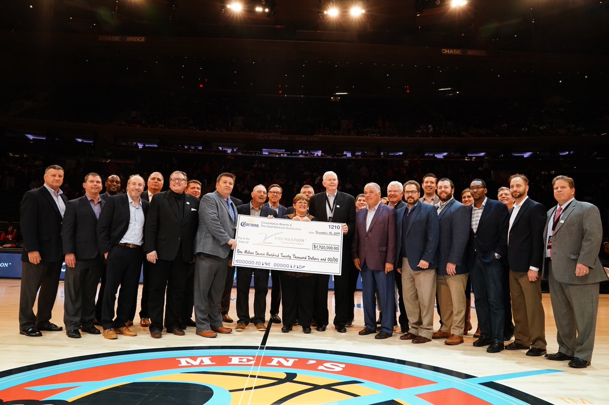 It was so great to see so many of our friends from Constellation Brands at the #JimmyVClassic last night! Thanks to each and every member of their team that works so hard each day to raise money for cancer research!