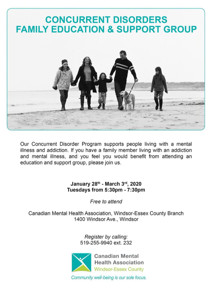 test Twitter Media - Do you have a loved one currently living with a mental illness & substance use problem? CMHAWECB offers an education & support group for family members/friends. Please share! #YQG #support #careforthecaregiver https://t.co/1VQYi8UjC3