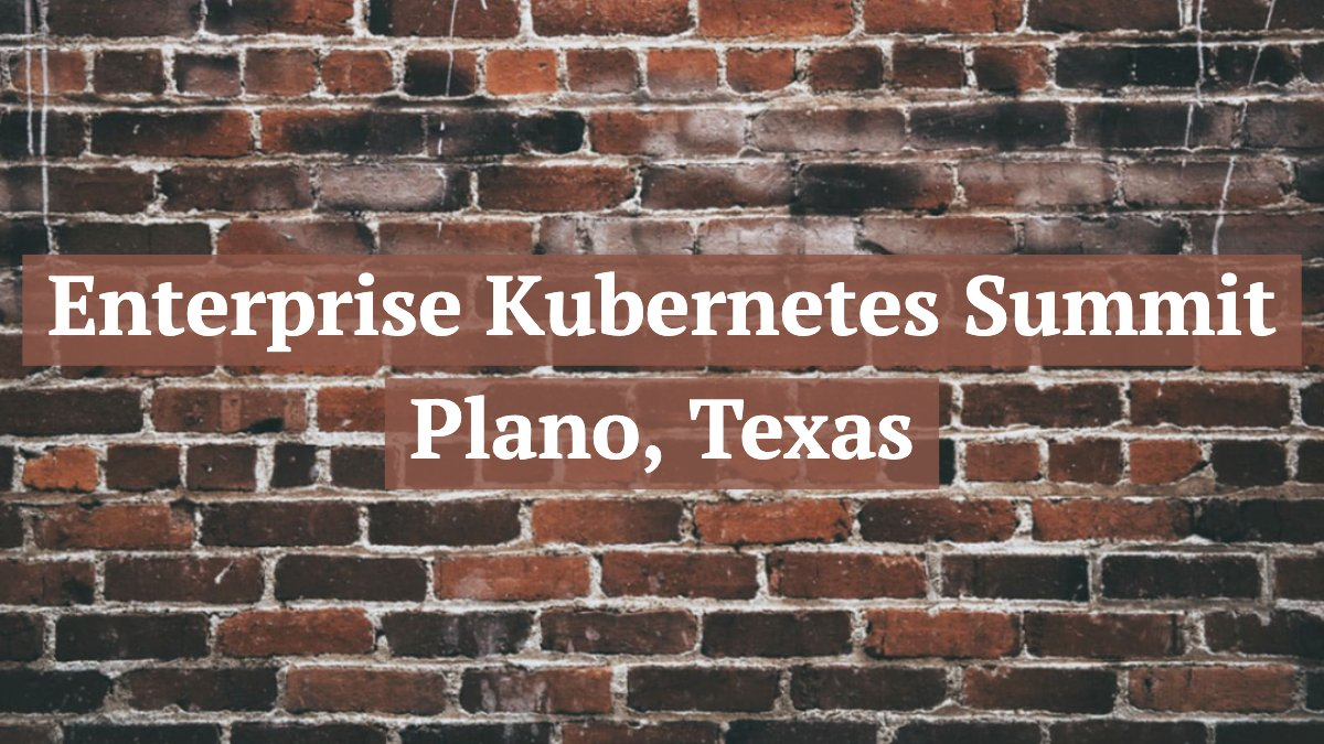 Plano, Texas here we come! Join us today for this FREE full stack workshop hosted by #Rancher, #Datadog, #GitLab, and #Aqua. Click the link for more information, we hope to see you there!  #EnterpriseKubernetesSummit #RootLevelTech #DevOps