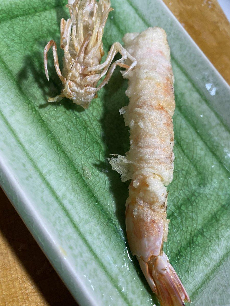 一人で天ぷら屋さんごっこ あかん。明日もバリバリ予定あるのに金色がとまらねぇ