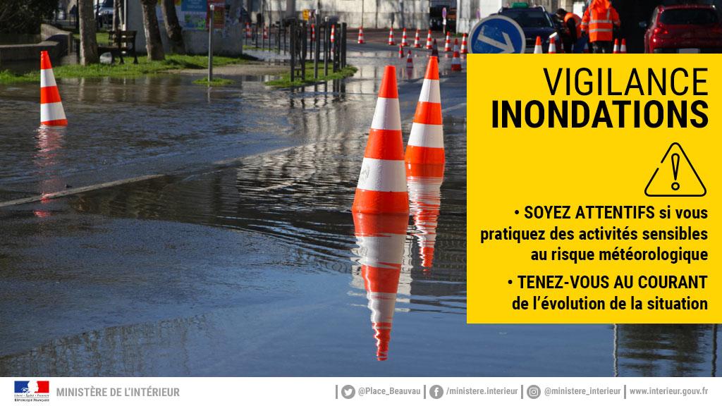 Alerte météo en #gironde : vigilance jaune #inondations. Soyez prudents dans vos déplacements. #Lormont #garonne #dordogne #vigilance #vigicrues twitter.com/PrefAquitaine3…