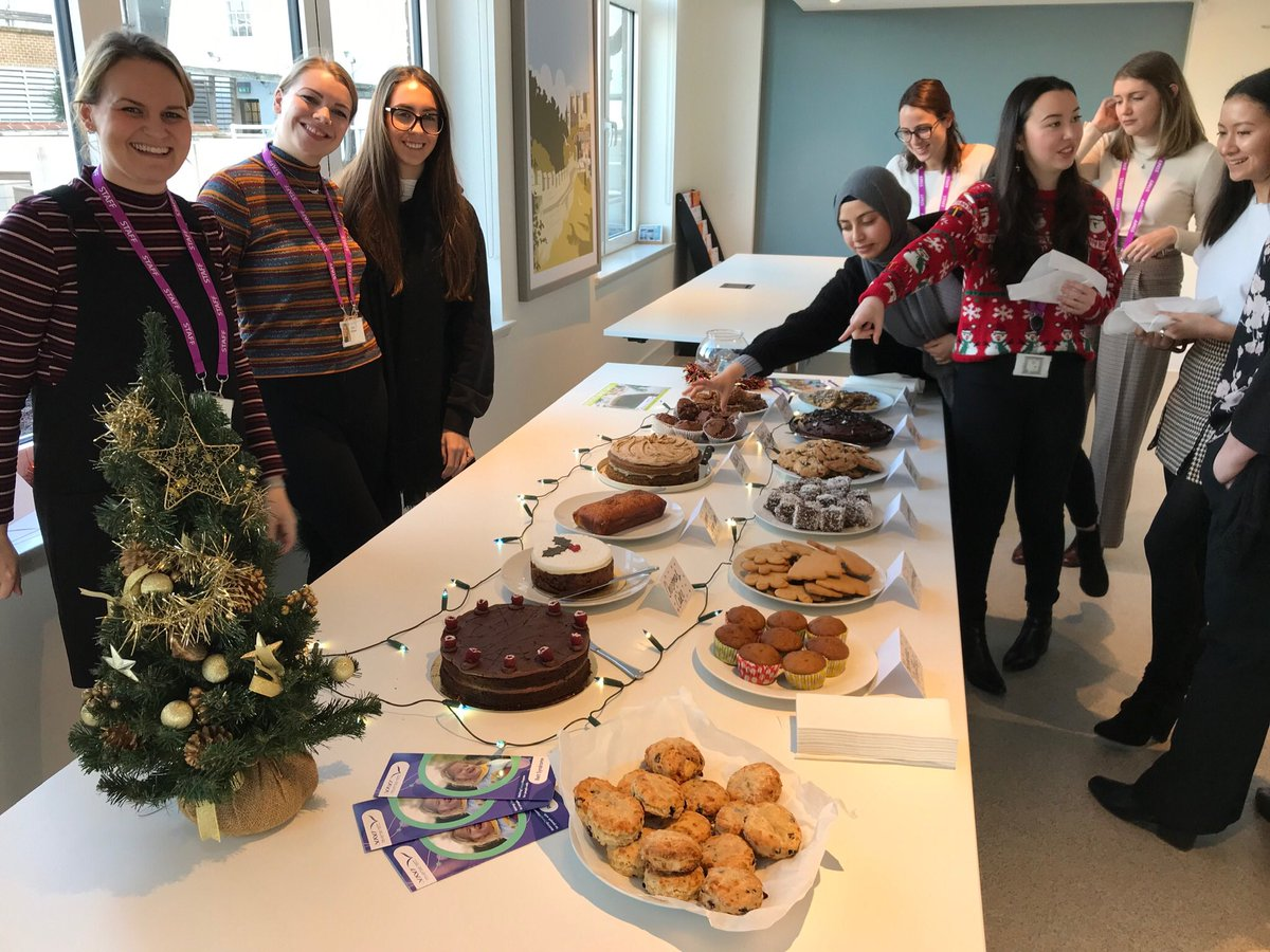 We're raising some festive funds today for @ReverseRett with our Christmas bake sale!   All delicious, all good cause 🍪⛄️ 🎅