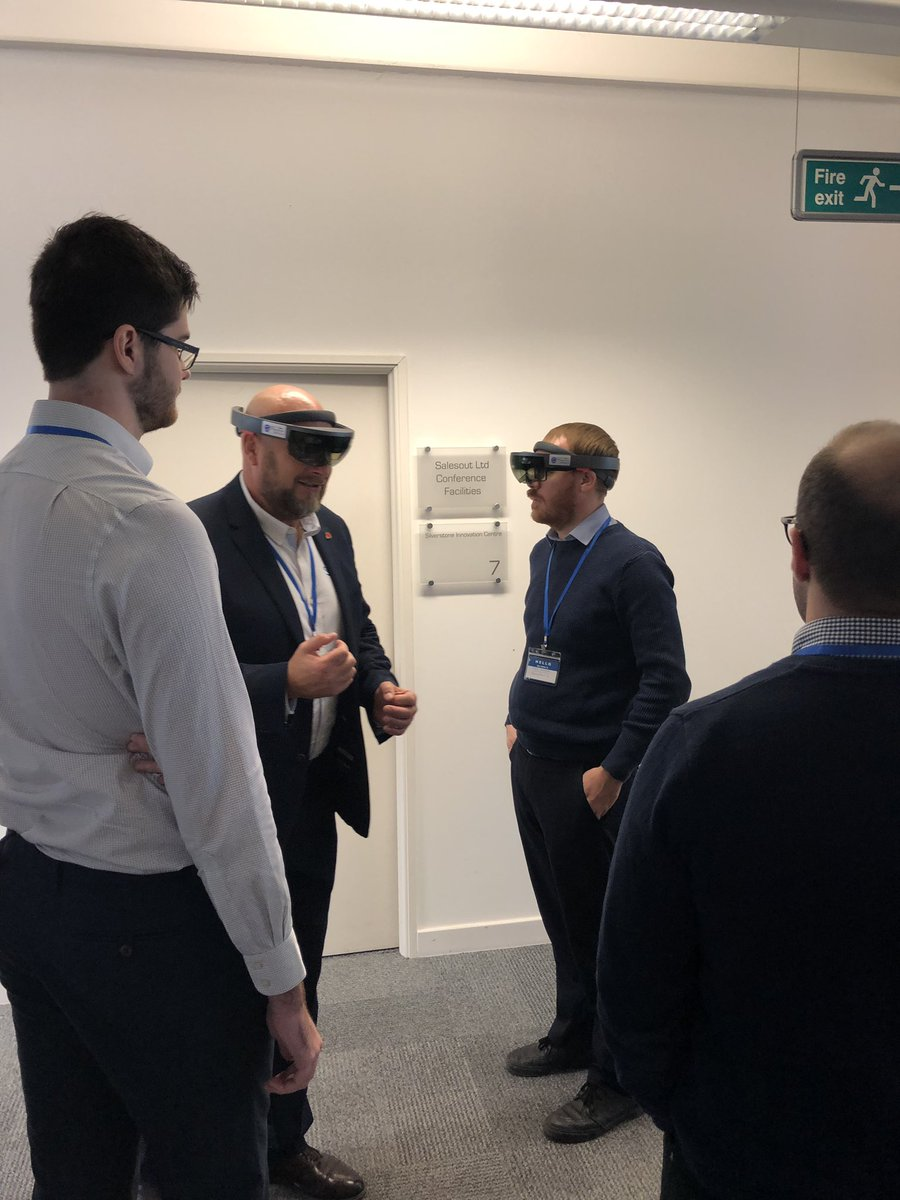 The attendees at our #XR seminar @SilverstonePark are now having hands-on demos of our experiences in #AR #MR and #VR