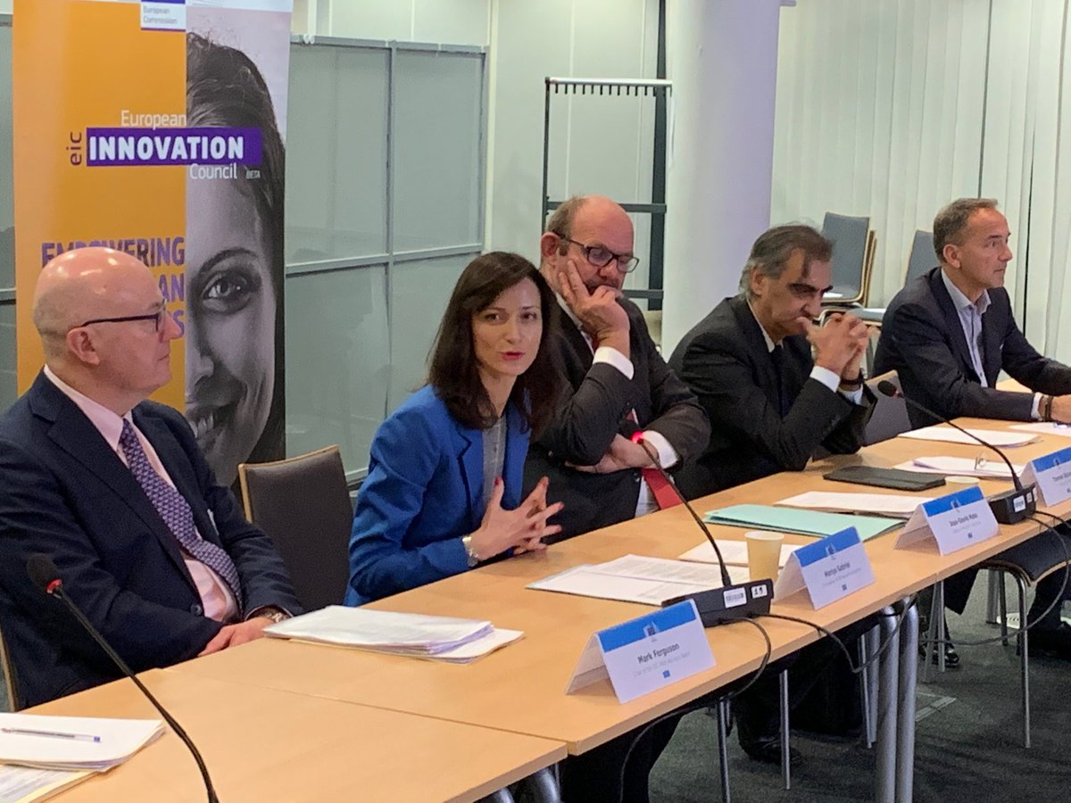 Inspiring morning @EUeic advisory board meeting: Your work on #EICAccelerator & #EICPathfinder is crucial for future #HorizonEU to provide best possible support to SMEs, startups, scientists to turn their ideas into #innovation. Especially women innovators need our support! https://t.co/TDwALGB0mU