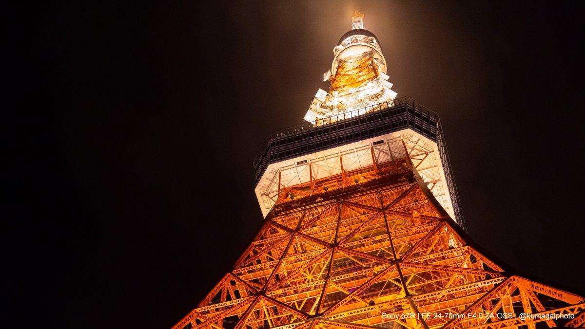 東京観光㉔  この写真で「東京観光シリーズ」が最後です。 いつもより遅いペースでしたが、写真を見ていただき、ありがとうございました!🙇♂️ また時間ができたら写真を撮りに行きたいと思います!  #α7R #東京 #Tokyo #東京タワー #ライトアップ #夜景 #photography #写真好きな人と繋がりたい