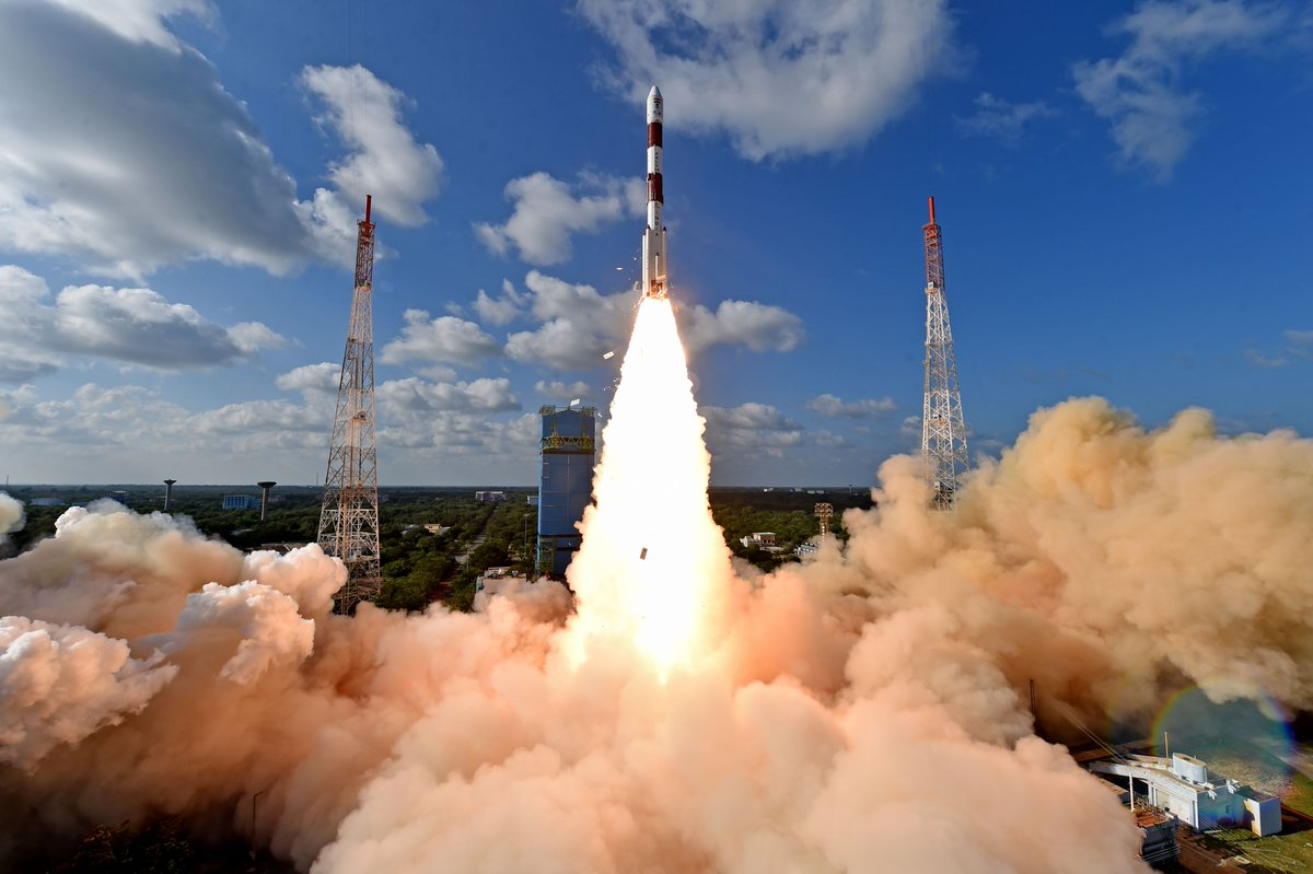 Today's launch was the 50th launch of #PSLV & 75th launch from our space port in Sriharikota.Thanks for your support.