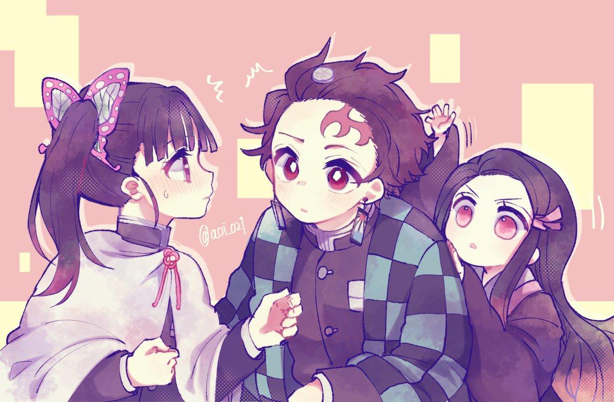 炭治郎とカナヲと禰豆子落下地点