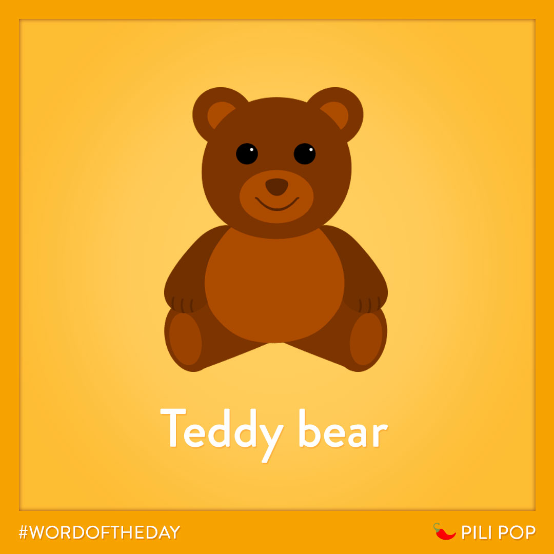 #WordOfTheWeek 🌶 Do you have a teddy bear ? 🐻 https://t.co/DrhVCmKq6a