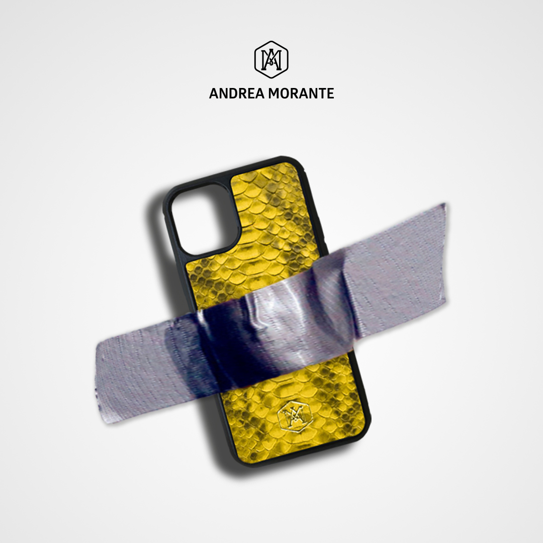 Cover Iphone 11 Pro in pelle di Pitone - Andrea Morante ®️